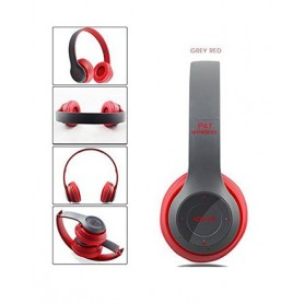 Casque P47 intelligent- WiFi/Bluetooth 4.2 - Gris/Rouge