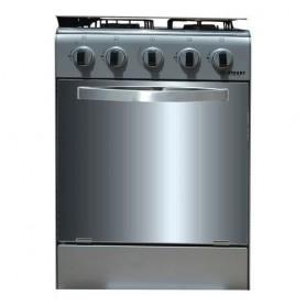 Cuisinière - Gaz 4 Feux Avec Four STC-5050S - Inox/Gris - Garantie 6 Mois