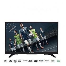 TV Led - 24 Pouces - Ultra Slim - Usb/Hdmi/VGA - Avec Décodeur Intégré - Noir