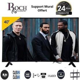 TV LED 40 Pouces - Ultra Slim - Décodeur Intégré - Noir - Garantie 12 Mois