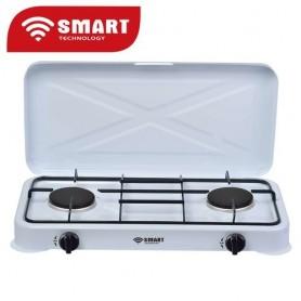 SMART TECHNOLOGY Cuisinière/Réchaud A Gaz 2 Feux STC-2000 - Blanc