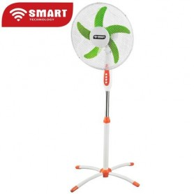 """SMART TECHNOLOGY Ventilateur Côte D'Ivoire 16"""" - STV-1212 - Orange-blanc-Vert - Garantie 1 Mois"""