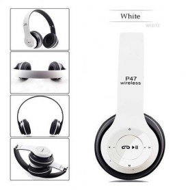 Casque P47 intelligent- WiFi/Bluetooth 4.2 - Blanc